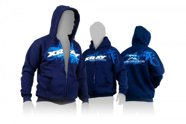 Kaputzensweater XRay mit Reissverschluss blau(XXL) - XRay 395600XXL