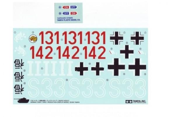 Dekor & Sticker-Set zu Panzer 36203 - Tamiya 9403084