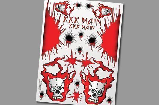 Aufkleber Splatter Cow - XXXMain S002