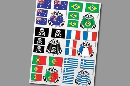 Aufkleber Dekor Blatt Flaggen 2 - XXXMain S026