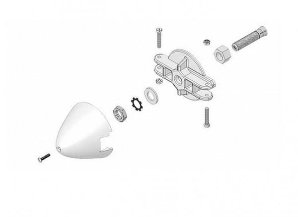 Blatthalter & Spinner 54mm - Multiplex 733500
