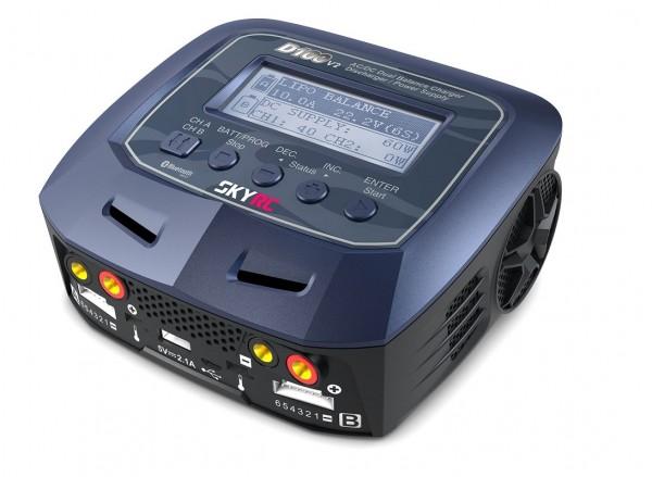 Ladegerät D100 V2 AC/DC 2x100W - SKYRC 100131-02/EU