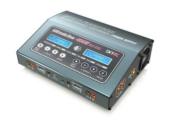 Ladegerät D400 AC/DC 2x200WLiPo 1-7S - SKYRC 100123