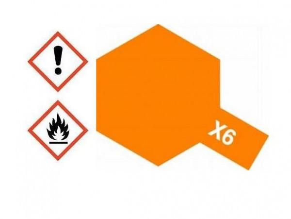 X-6 Acrylfarbe orange glänzend 10ml - Tamiya 81506