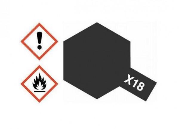 X-18 Acrylfarbe schwarz glänzend 10ml - Tamiya 81518