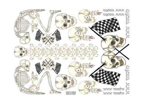 Aufkleber Skeletons - XXXMain S004