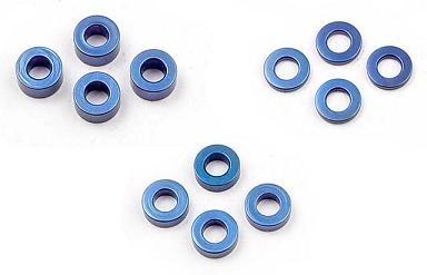 Distanzscheiben 3x1,2,3mm ALU blau je 4 - XRay 303121