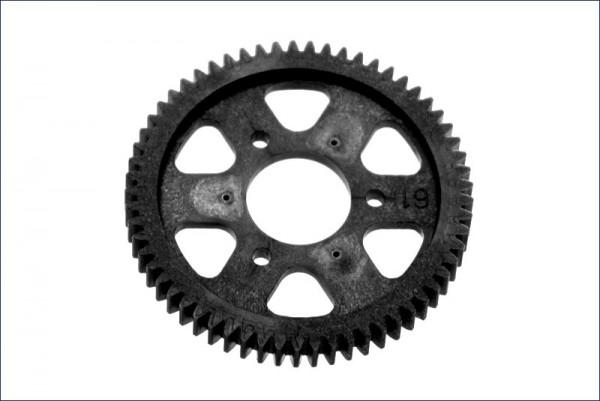 Hauptzahnrad 61Z. 1-Gang 0.8Modul - Kyosho VZ113-61B