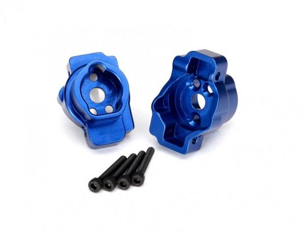 Achsmontage hinten Alu blau TRX4 - Traxxas 8256X