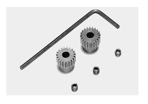 Ritzel 20Z. & 21Z. 64Pitch Stahl - Tamiya 53101