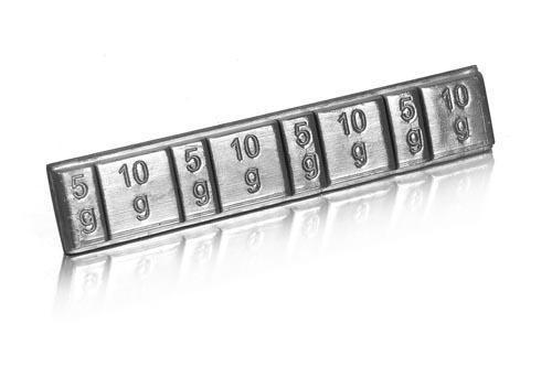 Bleigewichte 4x5g & 4x10g selbstklebend schwarz - Hudy 293080