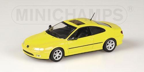 Peugeot 406 Coupe 1996 gelb 1:43 - Minichamps 430112627