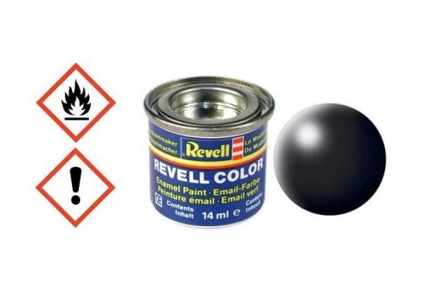 Schwarz seidenmatt RAL 9005 14ml Dose - Revell 32302