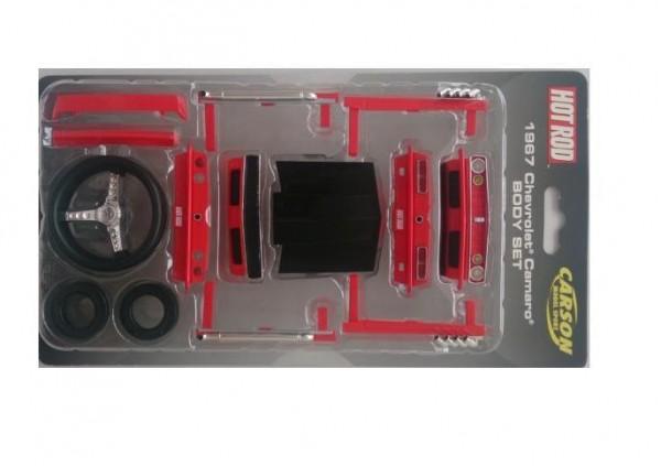 Karosserie-Set Spoiler Camaro rot - Carson 408010