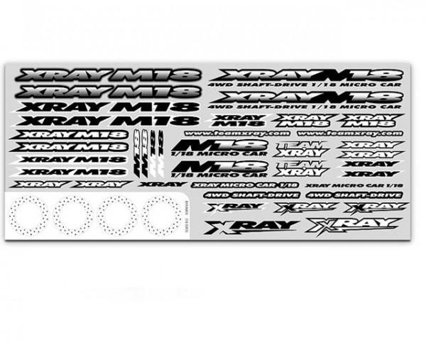 Dekor XRAY M18 Aufkleber für Karosserie - XRay 397340
