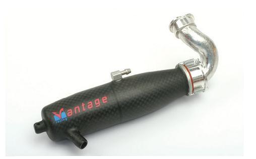 Auspuff-Set Kohlefaser links - Vantage SE120L-17
